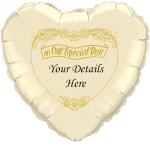 Ivory wedding heart copy